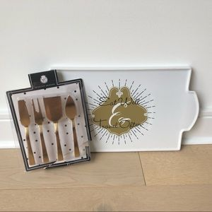 Other - Cheese platter and knife set